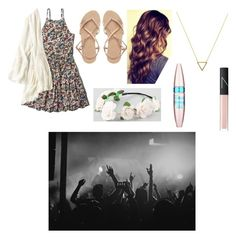 """Sixth grade dance!"" by sydneefashion ❤ liked on Polyvore featuring Abercrombie & Fitch, ASOS, Full Tilt, Wanderlust + Co, Maybelline, American Eagle Outfitters and NARS Cosmetics"