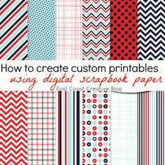Haven't tried using and customizing Digital Scrapbook Paper yet?  Well, this is a GREAT EASY DIY Tut! (nope no Photoshop to figure out YaY!) Once you try it, you'll be hooked!