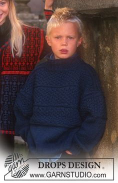 Sweater. 3-14 years. Free pattern in several different languages