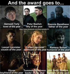 Game of Thrones funny meme. season 5 awards