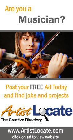 www.artistlocate.com - Are you a musician and want to make money? Post your ad on our site and receive jobs in projects for graphic and website design, programming, acting, singing and musicians, modelling, painting, photography and more! Creative Jobs, Free Ads, Find A Job, Programming, Musicians, Acting, How To Make Money, Singing, Website