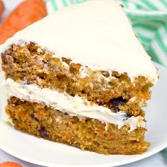 The Best Moist Carrot Cake – EXTRA moist because the cake gets drizzled with sweet glaze while it's still warm then piled high with cream cheese frosting. food recipes videos The Best Moist Carrot Cake 13 Desserts, Delicious Desserts, Best Cake Recipes, Sweet Recipes, Recipes For Cakes, Spice Cake Recipes, Healthy Cake Recipes, Carrot Recipes, Pie Recipes