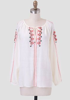 Morocco Travels Embroidered Blouse at #Ruche @Ruche