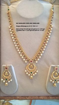 Pearl Necklace Designs, Pearl Jewelry, Indian Jewelry, Wedding Jewelry, Jewelery, Pendant Jewelry, Silver Jewelry, Gold Jewelry Simple, Gold Jewellery Design