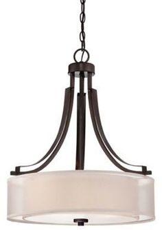 Minka-Lavery® Harvard Court 3-Light Pendant with Harvard Court Bronze Finish