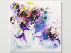 Abstract painting by Svetlansa #svetlansa #homedecor #largepainting #largeart #abstractpainting #violetart #violetpainting #wallart #artwork #white #violet #etsy #bestofetsy #purple