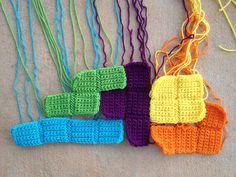 five crochet tetriminoes, crochetbug, crochet squares, crochet blanket, crochet afghan
