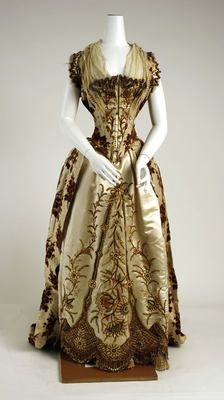 Dress (Ball Gown) - front  Date 1887–89