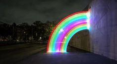 Rainbow neon.