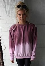 dirty saint studded dip dye tie dye jumper sweatshirt