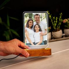 Personalized Led Lamp as Gift for Her. Night Light as Birthday Gift for Mom. Custom Led Lamp with Photo as Best Anniversary Gift for Wife Couple Gifts, Gifts For Family, Gifts For Mom, Laser Cutter Projects, Anniversary Gifts For Wife, Pink Minnie, Best Gifts For Men, Concrete Design, Mom Birthday Gift