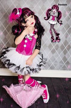 Monster High Draculara Inspired Tutu Costume