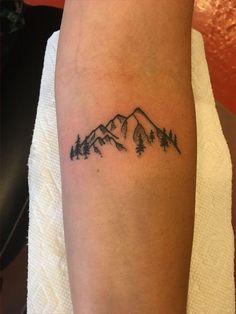Small mountain tattoo – foot tattoos for women Foot Tattoos, Cute Tattoos, Body Art Tattoos, New Tattoos, Small Tattoos, Tatoos, Rib Cage Tattoos, Small Pretty Tattoos, Script Tattoos