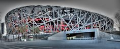 The Birds Nest at Olympic Park in Beijing, China.