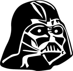 Darth Vader Star Wars themed car decal, wall decal, laptop decal, etc. for that Star Wars fan in your life! Let the force be with you. Darth Vader Stencil, Star Wars Stencil, Aniversario Star Wars, Cool Stencils, Paint Stencils, Stenciling, Vader Helmet, Star Wars Darth, Laptop Decal