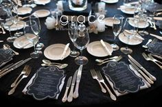 diamonds, silver and white table settings | Camille's Wedding Ideas - Don CeSar - Sophisticated Elegance