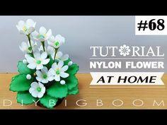 Nylon stocking flowers tutorial #68, How to make nylon stocking flower step by step - YouTube