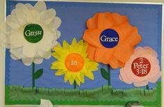 sunday school bulletin boards | ... version of the above bulletin board for our 3's Sunday School class
