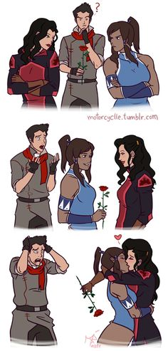 But now with season three, this is pretty much how it went down. Date the boy. Break up with the boy. Date his ex and live happily ever after. Korrasami should happen.