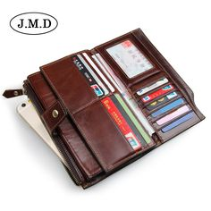 Large capacity!Male Leather Purse Men's Clutch bag Wallets card & id holders  Business hasp Men Brown Wallets Dollar Price 8103