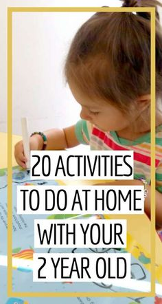 20 Fun & Easy Activities to Do at Home with Your Old v 20 Fun & Easy Activities to Do at Home with Your Old,Erziehung 20 Activities To Do At Home With. Fun Activities To Do, Toddler Learning Activities, Games For Toddlers, Parenting Toddlers, Infant Activities, Educational Activities, Preschool Activities, Kids Learning, Parenting Tips