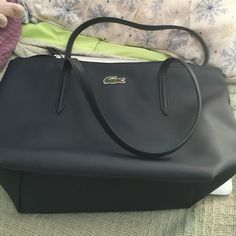 Lacoste bag Navy used once. Perfect condition! Lacoste Bags Totes