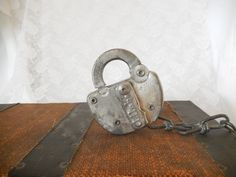 vintage railroad lock Louisville & Nashville RR no key by brixiana