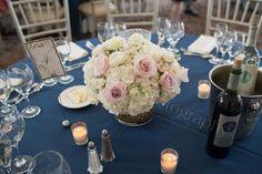 Navy & white Connecticut summer wedding