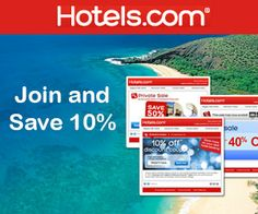Join and Save 10% at Hotels.com http://free.ca/rewards/save-10-off-at-hotels-com/ #travel #hotel #save