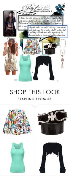 """Fresh Take - Pretty Little Liars S1E2 - Aria"" by josieobryan on Polyvore featuring Jeremy Scott, Versace and WithChic"