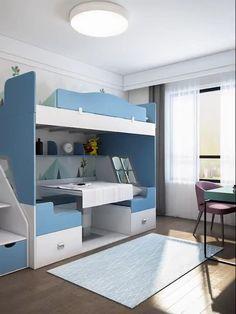 Small Room Design Bedroom, Small House Interior Design, Small Apartment Design, Girl Bedroom Designs, Room Ideas Bedroom, Home Room Design, Kids Room Design, Bed Design, Stylish Bedroom