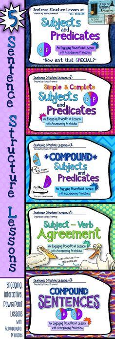 """""""Sentence Structure {5 Lesson BUNDLE}"""" ($)"""