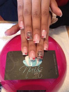 acrylic nails 2014  | See more nail designs at http://www.nailsss.com/french-nails/2/