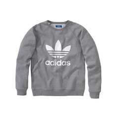 Adidas Sweatshirt, Logo-Print, Retro-Look Vorderansicht