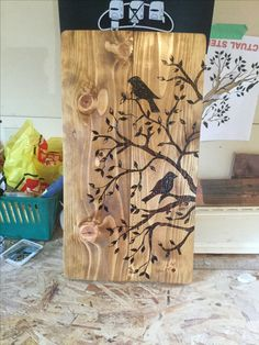 Wood burn project for a friend made from pallets