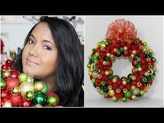 Como hacer una Corona de Esferas - Manera Facil y Economica- DIY- NuestraCasa2013 - YouTube