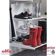 Platinum elfa Gliding Shoe Shelves | Shopping Trip | Pinterest | Container store Shelves and Organizations  sc 1 st  Pinterest & Platinum elfa Gliding Shoe Shelves | Shopping Trip | Pinterest ...
