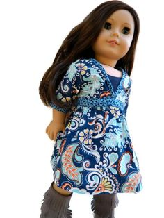 American Girl Doll Clothes - Killara Dress and Tank Top by 18Boutique