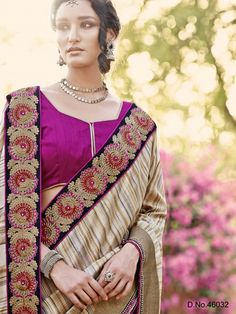 Touch Trends Embellished Designer Partywear Saree