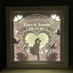 Your place to buy and sell all things handmade - Excited to share the latest addition to my shop: Personalised wedding shadow box, personalise - Wedding Gifts For Newlyweds, Newlywed Gifts, Bride Gifts, Anniversary Gift For Her, Wedding Anniversary Gifts, Paper Anniversary, Anniversary Ideas, Personalized Christmas Gifts, Personalized Wedding Gifts