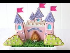 Princess castle cake & cookie bouquet - Royal icing cookie decorating - Cutter giveaway open to all
