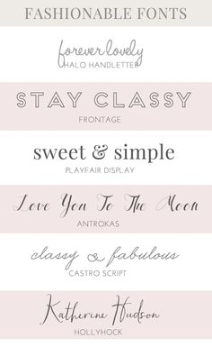 25 great fonts for parties | a subtle revelry