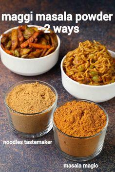 Maggi Masala, Masala Powder Recipe, Masala Recipe, Maggi Recipes, Snack Recipes, Cooking Recipes, Puri Recipes, Mini Pizza, Chaat Recipe