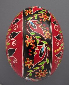 Pysanka Real Ukrainian Easter Egg Hen Chicken Shell Geometric Design Birds T11 | eBay