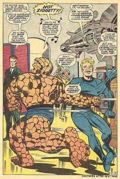 Fantastic Four 80 The Thing splash page 1968 Kirby