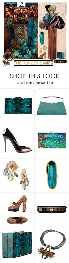 """""""Hunger Games Style"""" by yours-styling-best-friend ❤ liked on Polyvore featuring Sally Hansen, Rafe, J. Mendel, Alexander McQueen, Natasha Couture, Betsey Johnson, Anja, Markus Lupfer, Marc Jacobs and Hungergames"""