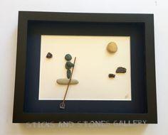 Nautical Themed Pebble Art Paddle Board Pebble Art by SticksnStone