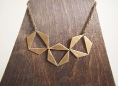 Sparking Flames Brass Necklace by christijay on Etsy, $70.00
