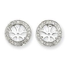 41cf52b4ea 14k White Gold Diamond Earring Jackets XJ49A