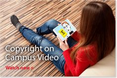 Copyright on Campus Video. Jane the librarian educates her university colleagues about copyright law and its impact on the academic institution's use of intellectual property.